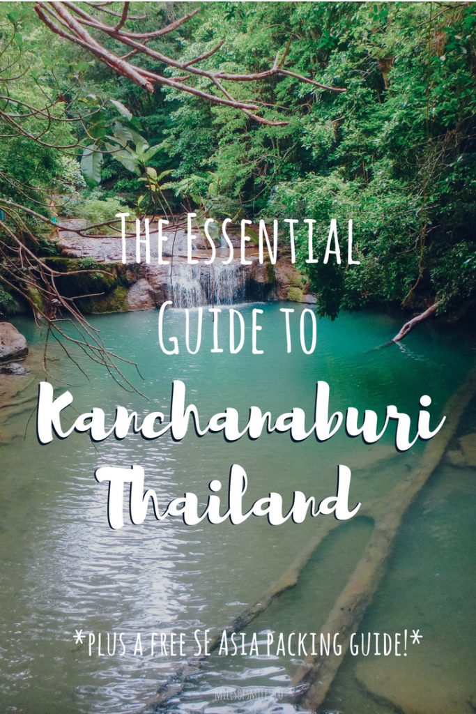 The Essential Guide to Kanchanaburi CLICK AND SAVE THIS PIN, Kanchanaburi Thailand, What to do in Central Thailand, Central Thailand, Trips from Bangkok, things to do in Kanchanaburi, Erawan National Park, Erawan Waterfalls, Tiger Temple